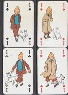 4 As De BD - Tintin & Milou - Cartes à Jouer Classiques