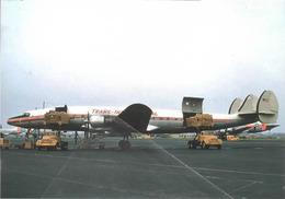 Trans International Airlines Lockheed L-1049H Costellation N7121C Aviation Airplane - 1946-....: Era Moderna