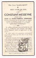 DP Constant Messeyne / Vermeulen ° Kortemark 1878 † St.-Jozef Hooglede 1936 - Images Religieuses