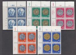 Switzerland 1964 Pro Patria 5v Bl Of 4 (corners) ** Mnh (44442B) - Pro Patria
