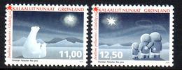 Danmark Gronland 0686/87 Ours, étoile Polaire, Famille Inuit - Kerstmis