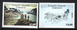 Danmark Gronland 0698/99 Sepac, Alpinisme, Chiens De Traineau, Lac - Géologie