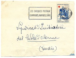 France N° 1279 Y. Et T. Paris IX Flamme Illustrée Du 08/02/1961 Sur Devant Lettre - Poststempel (Briefe)