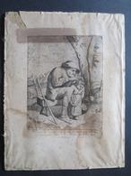 Eau - Forte - Gravure XVII E -  Le Blond Excud  - La Chasse Aux Poux - - Prints & Engravings