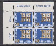 Europa Cept 1963 Switzerland 1v Bl Of 4 (corner) ** Mnh (44442F) - Europa-CEPT