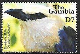 GAMBIA - MNH - 2001 -   Blue-bellied Roller    Coracias Cyanogaster - Vogels