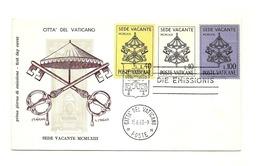 1963 - Vaticano 362/64 Stemma   FDC - Buste