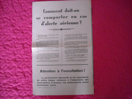 Affiche Authentique De La Kreiskommandur (comportement Alerte Aérienne) - 1939-45