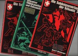 SUISSE Lot De 3 Catalogues Militärpostkarten Et Soldatenmarken - Documents