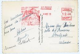 HAUTES PYRENEES CP 1950 STE MARIE DE CAMPAN MECANIQUE ILLUSTREE SPECIFIQUE A STE MARIE DE CAMPAN TOURMALET - Storia Postale