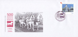 Croatie Ðakovo Koverta 500 Godina Ergele Đakovo,enveloppe 500 Ans Des Haras De Đakovo,neuve - Kroatien