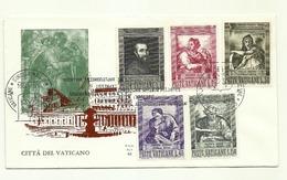 1964 - Vaticano 387/91 Michelangelo Buonarroti   FDC - Celebrità