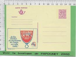 01238 - 03026 - E Be Entiers Postaux Publibel 2777 F LES VINS DE PAYS - Stamped Stationery