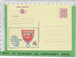 01239 - 03026 - E Be Entiers Postaux Publibel 2777 F LES VINS DE PAYS - Stamped Stationery