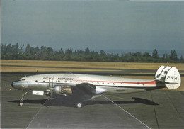 PNA - Pacific Northern Airlines Lockheed L-749A Costellation N86523 At SEA Aviation Airplane - 1946-....: Era Moderna