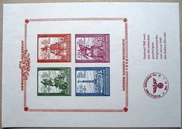DR Nachdruck 1968 Block Mit 4 Marken Grossdeutsches Reich Vom Atelier Albrecht ** - Deutschland