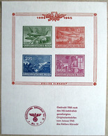 DR Nachdruck 1968 Block Mit 4 Marken Grossdeutsches Reich Vom Atelier Albrecht ** - Germany
