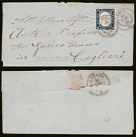 20 Cent (15Ab) Lettera & 20 Cent (15B) Usato: Due Ann. BOSA (p.6) = € 685 - Sardegna