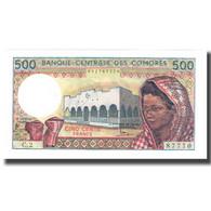 Billet, Comoros, 500 Francs, KM:10a, NEUF - Comores