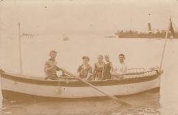 Crikvenica - Group Of Tourists In Boat , Port Scene , Ship RPPC Foto Jelussich 1913 - Kroatië