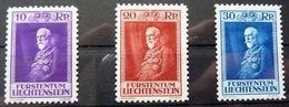 Liechtenstein 1933: Fürst Franz (1853-1938) Zu 101-103 Mi 122-124 Yv 114-116 * Falz MLH (Zumstein CHF 225.00 - 50%)) - Royalties, Royals