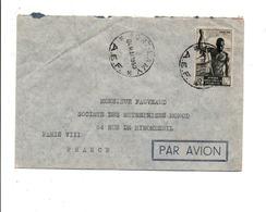 A E F LETTRE DE FORT-LAMY POUR LA FRANCE 1950 - A.E.F. (1936-1958)
