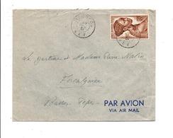 A E F LETTRE DE MOUNDOU POUR LA FRANCE 1951 - A.E.F. (1936-1958)