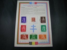 BELG.1945  Feuillet : Défense De La France ,exposition A Bruxelles - FDC