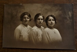 Oude Mooie Foto-kaart (Sepia) Door Fotograaf B .  WILLEMSEN  AALST - Personas Identificadas