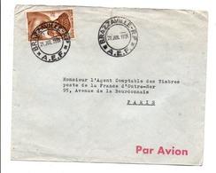 A E F LETTRE DE BRAZZAVILLE POUR LA FRANCE 1955 - A.E.F. (1936-1958)