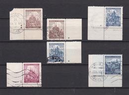 Böhmen Und Mähren - 1939/42 - Sammlung - Randstücke Mit Plattensternchen Und Plattennummer - Gest. - Besetzungen 1938-45