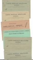 CARTE POSTALE MILITAIRE  REPONSE  LOT DE 6 CPA   Voir Scan - Guerre 1914-18