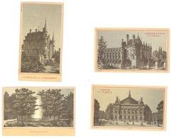 4 Chromos Châteaux De Chenonceaux, La Chataignerai, Opéra De Paris, Source Intermitente ( Bonbons Vals Les Bains ) - Cromo
