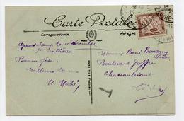 - Carte Postale TREILLIÈRES Pour CHÂTEAUBRIANT (Loire-Atlantique) 12.11.1921 - TAXÉE 10 C. Brun Type Duval - A ETUDIER - - Taxes