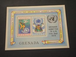 GRENADA - BF 1975 AMMISSIONE/UCCELLI  - NUOVO(++) - Grenada (1974-...)