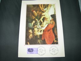 "BELG.1977 1838 1° Class Filatelic Card : ""Internationaal Rubensjaar- Année Intern.Rubens"" - 1971-80"