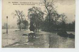 POISSY - Inondations De Janvier 1910 - Route De TRIEL à VERNOUILLET - Poissy