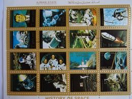 AJMAN STATE - Feuillet 16 Mini Timbres Oblitérés History Of Space (histoire De L'espace) - Ajman