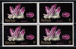 Kenya 1977   Yv 4 X 102**, Mi 4 X 103**, 1 Shilling  Minerals - Amethyst  MNH - Kenya (1963-...)