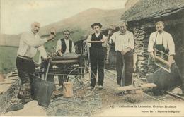 65 - Labassère -  Ardoisières De Labassère - Ouvriers Fendeurs - (colorisée) - France