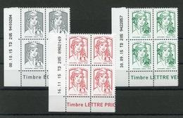 RC 13310 FRANCE N° 5014 / 5016 MARIANNE DE CIAPPA COINS DATÉS NEUF ** - France