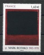 RC 13315 FRANCE N° 5030 TABLEAU MARK ROTHKO A LA FACIALE NEUF ** - France