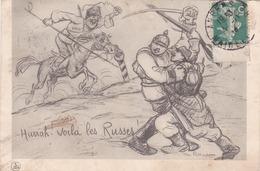 CPA Guerre Mondiale En 1914 - Illustration Dessin Illustrateur Radiguet  Sauvés Par Les Renforts Russes RUSSIE Cosaque - Oorlog 1914-18