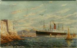 NAPOLI - CUNARDER AT NAPLES - BOAT / SHIP - 1917 (3674) - Napoli (Napels)
