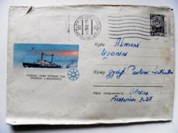 Postal Stationery Cover Ussr Ship Lenin Name Polar 1966 - Briefe U. Dokumente