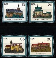 DDR MiNr. 2910/13 ** Burgen - Unused Stamps