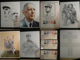 Documents Grand Format Charles De Gaulle + Enveloppes 1971 (3 Bureaux Différents) - De Gaulle (General)