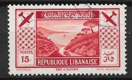 GRAND LIBAN : RARE POSTE AERIENNE N° 55 OBLITERATION TRES LEGERE - COTE 50 € - Grand Liban (1924-1945)