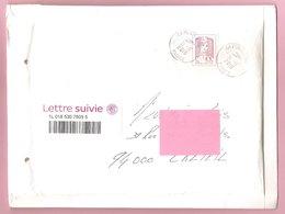 CIAPPA. Lettre Suivie. Y&T N°1177A  20g Lilas - Adhésif. Sur Lettre à Bulle Type C. Oblitération Cachets Ronds. - 2013-... Marianne (Ciappa-Kawena)