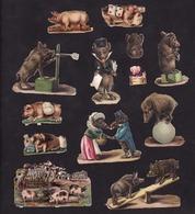 Découpis   Lot De 13    Cochons, Sangliers       8 X 5.5 Cm Le Plus Grand - Victorian Die-cuts